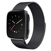 Load image into Gallery viewer, Fitbit Versa Black Metallic Replacement Strap