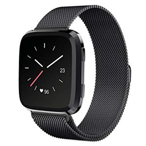 Fitbit Versa Black Metallic Replacement Strap