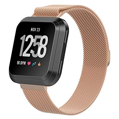 Fitbit Versa Rose Gold Metallic Replacement Strap