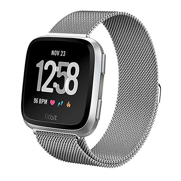 Fitbit Versa Silver Metallic Replacement Strap