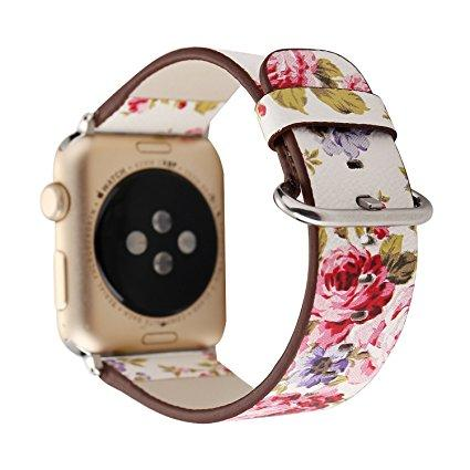 Apple watch white floral strap