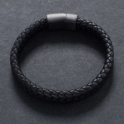 Black Stainless Steel Magnetic Clasps Bracelet