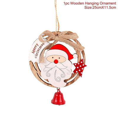 Wooden Christmas Decor Ornaments For Home