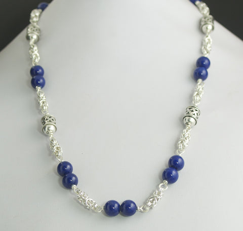 Sharbat Lapis Lazuli and Sterling Silver Necklace