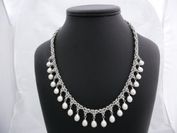 Priscilla - Sterling Silver Necklace with Pearls
