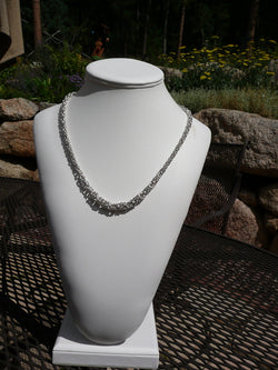 Graduated Handmade Silver Necklace