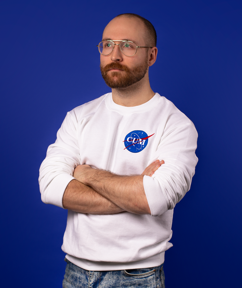 Nasa Cum Embroidered Sweatshirt