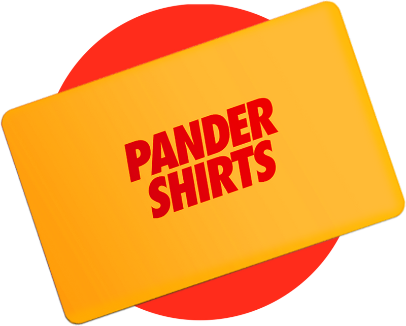 Pander shirts gift card yellow