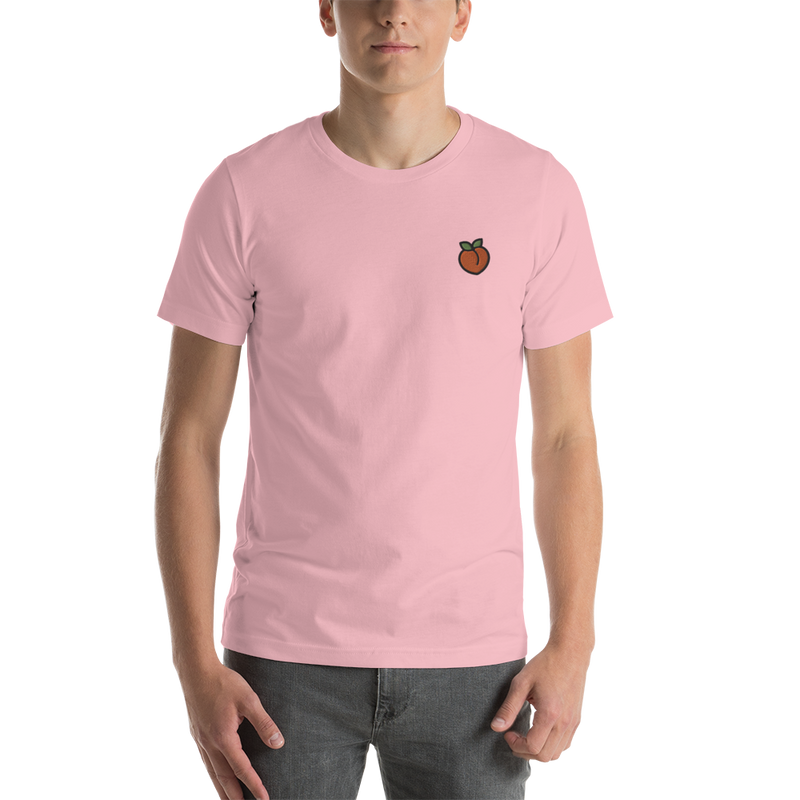 Peach Embroidered T-Shirt