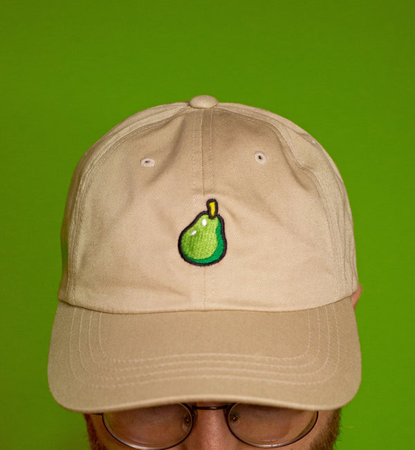 "Animal Crossing ""Inspired"" Pear Embroidered Hat"