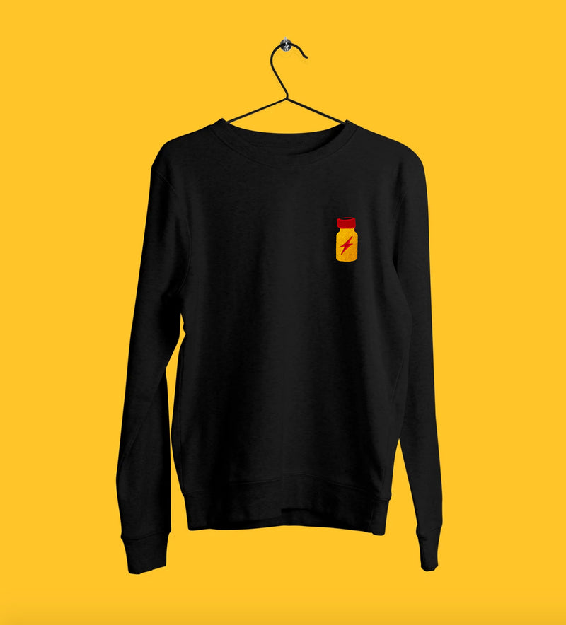Poppers Embroidered Sweatshirt