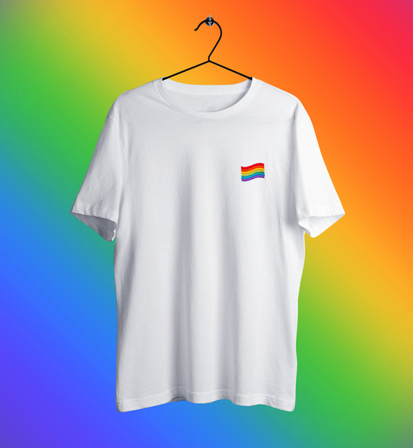 LGBT Flag Embroidered T-Shirt