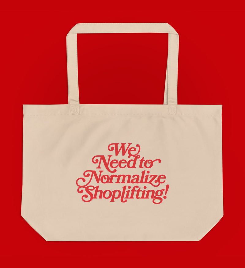 Normalize Shoplifting Organic Tote Bag