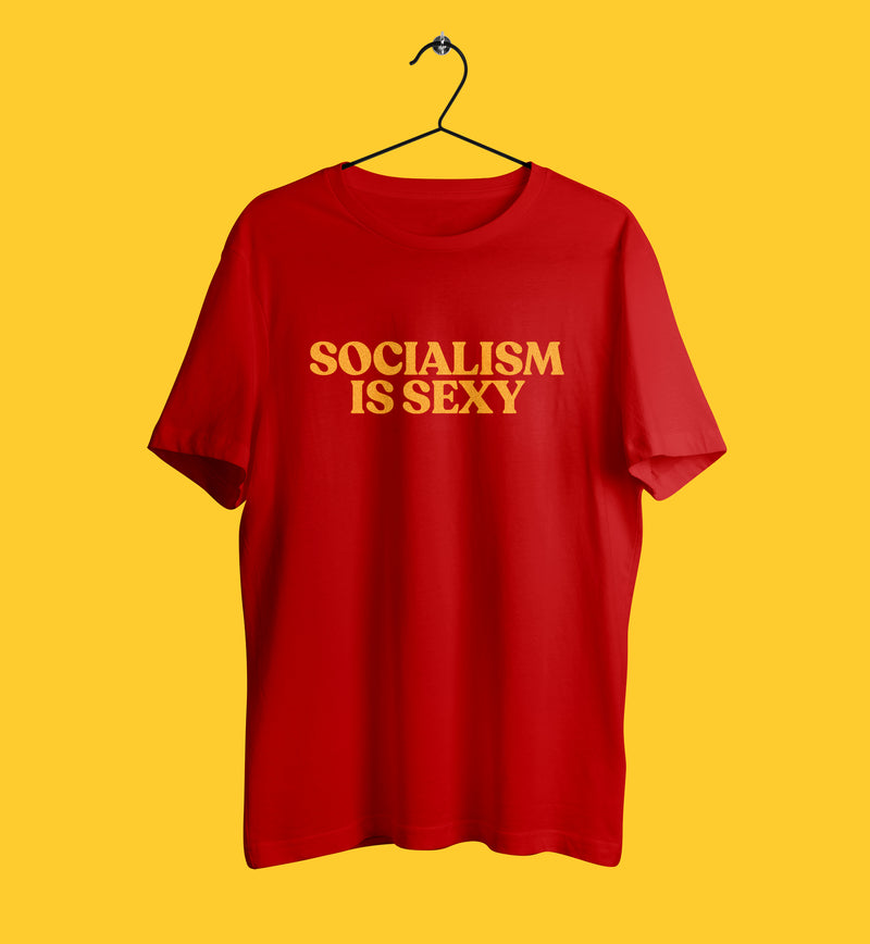 Socialism is sexy tshirt in red
