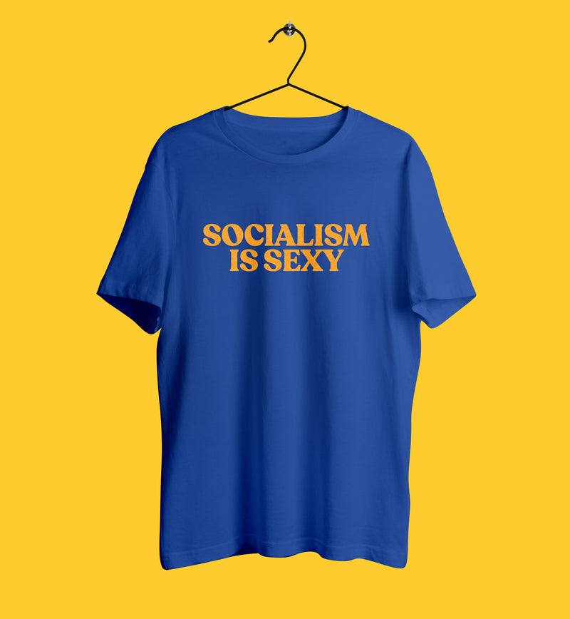 Socialism is sexy tshirt in blue