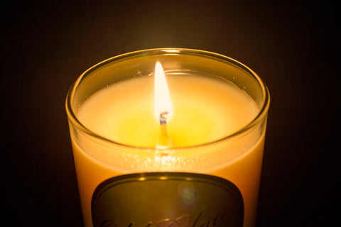 burning scented old glow candle