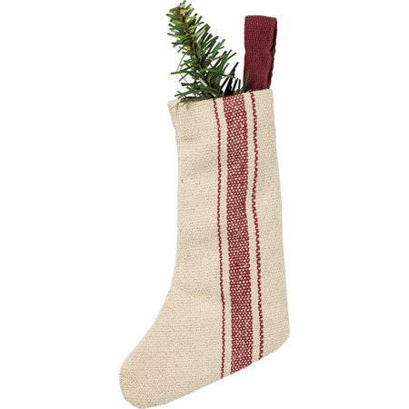 Red Striped Small Stocking, Approx 8