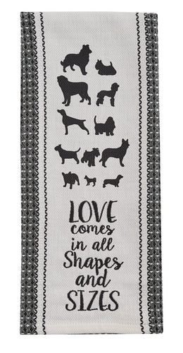 Love Dogs Dishtowel