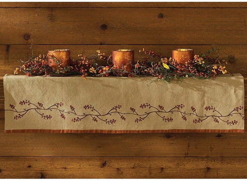 Burlap & Bittersweet Valance & Mantle Scarf