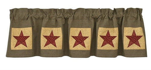 Country Star Patch Valance