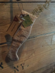 Tobacco Cloth Stocking Ornament