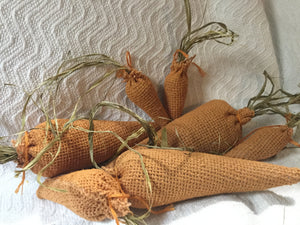 Burlap Carrots, Set of 7
