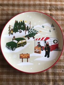 Park Designs Hometown Holiday Ceramic 8.5'' Camper Plate ONLY, Discontinued Item