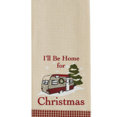 Park Designs Camper Dishtowel #83-811, I'll Be Home For Christmas