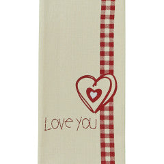 Love You Printed Dishtowel 18'' x 28''