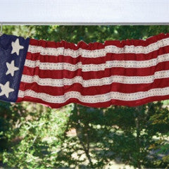 Star Spangled Lined Valance