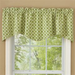 Cameron Wave Lined Valance, Green