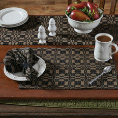 "Campbell Coverlet Black Placemat 13"" x 19"""