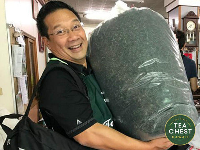 Byron Goo, Founder of Tea Chest carries in Jade Pouchong Tea to teachest.com