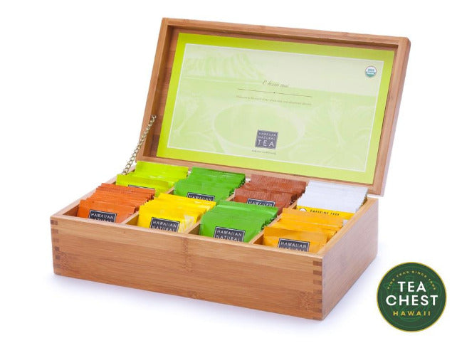 Filled Hawaii Bamboo Tea Chest from TeaChest.com