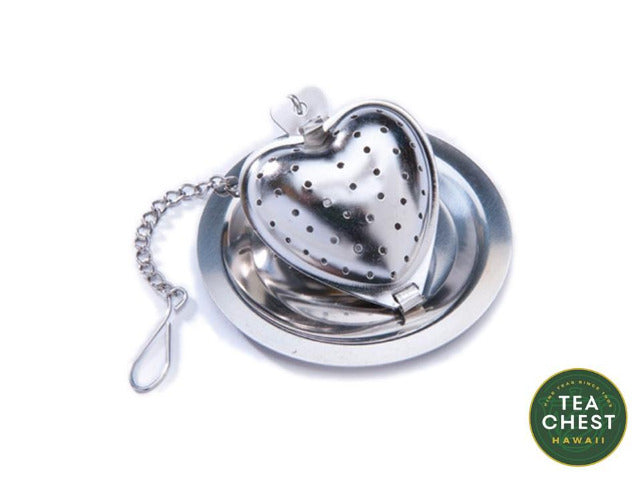 Heart Tea Infuser with Caddy - Tea Chest Hawaii