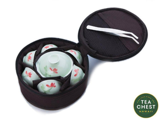 Mini Gaiwan Travel Set with Carrying Bag from Hawaii's TeaChest.com