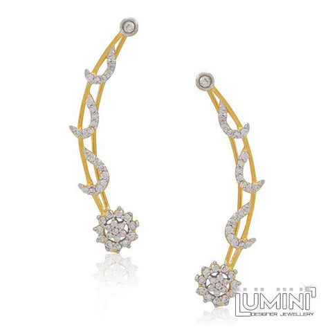 American Diamond Moons and Stars: Bohemia Golden Ear Cuffs