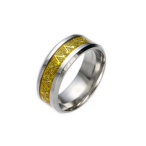 Assassin's Creed: Titanium Plated Golden Stainless Steel Ring with Insignia