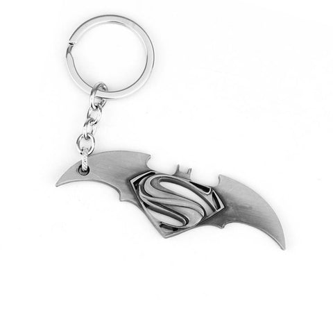 Batman vs Superman: Brushed Silver Keychain
