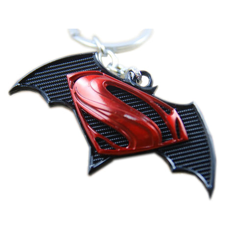 Batman vs Superman: Red and Black Premium Edition Keychain