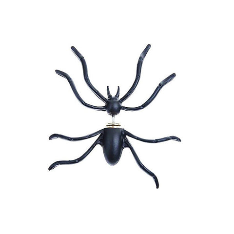Black Spider: Single Earring Stud