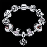Childhood Dreams: Silver Pandora Style Bracelet Combo Set with 11 Charms