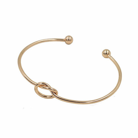 Forget-Me-Knot Golden Bracelet Bangle