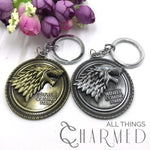 Game of Thrones: Winter is Coming Stark Wolf Silver Keychain