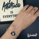 Lumini Golden Black Rose Gold Bracelet Bangle