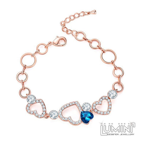Lumini Hearts Everywhere Rose Gold Bracelet