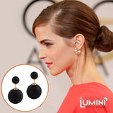 Lumini Lumos Pitch Black Double Sided Stud Earrings