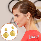 Lumini Lumos Lemon Yellow Double Sided Stud Earrings