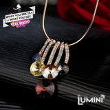 Lumini Pendant: Crystal Golden Icicles