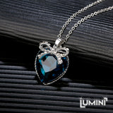 Lumini Pendant: Crystal Heart with a Bow